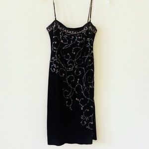 BCBGMaxAzria Embroidered Floral Cocktail Dress